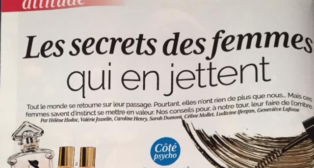 Presse – Femme actuelle – Le secret des femmes qui en jette