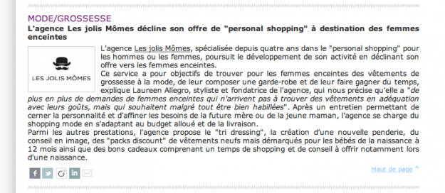 personal shopper femme enceinte