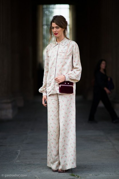 Silk Floral Pajamas, Outside Louis Vuitton