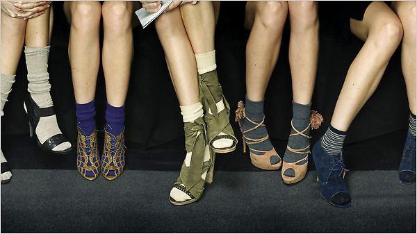 chaussure et chaussette