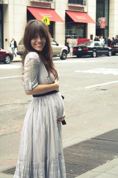 enceinte à la mode